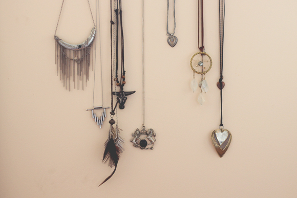 Hanging-necklaces
